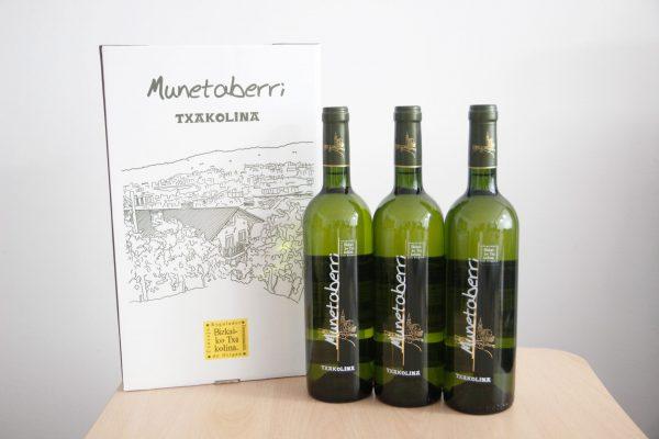 Txakoli Bilbao Munetaberri estuche 3 botellas